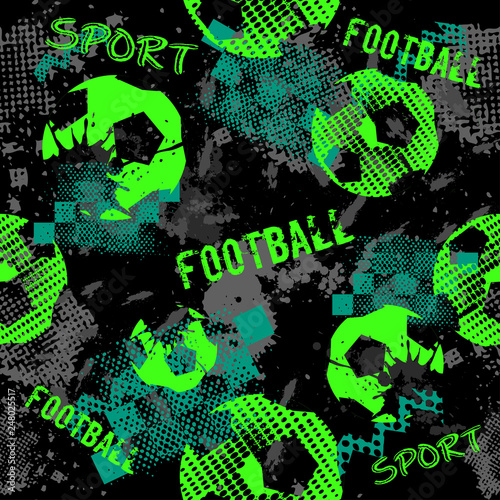 Abstract football pattern for boys