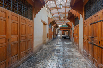 Market Bazaar street - souk in Fez