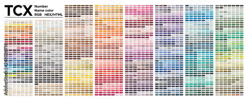 """Color table Pantone of the Fashion, Home and Interiors ..."