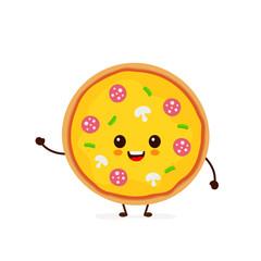 Cute smiling funny cute pizza