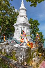 small Chinese shrine at Mae Nam beach on Ko Samui island, Thailand, Asia