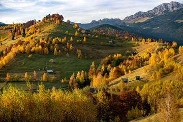 Transylvania landscape in autumn time, Romania the Carpathian garden