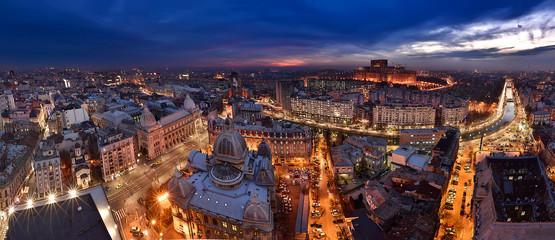 Bucharest panoramic view skyline , Romania  Fototapete