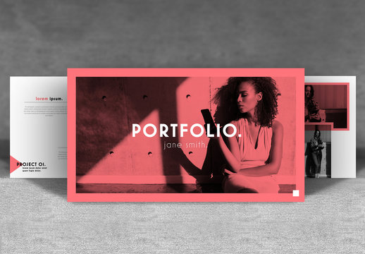 Portfolio Layout with Coral Accents