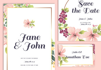 Wedding Suite Layout with Floral Elements