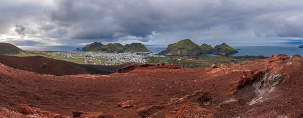 Panorama of Heimaey, Iceland