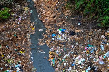 River in Kibera slum, Nairobi, Kenya