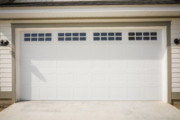Garage Door of New Construction House in the Suburbs Wall mural