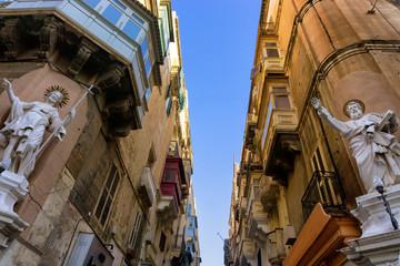 View of a street in Valletta, Malta