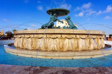 Triton water fountain in Valletta, Malta