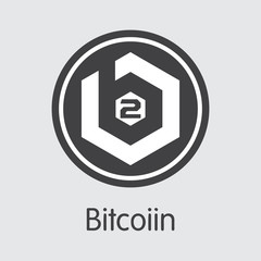 B2G - Bitcoiin. The Trade Logo of Coin or Market Emblem.
