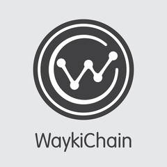 WICC - Waykichain. The Icon of Money or Market Emblem.