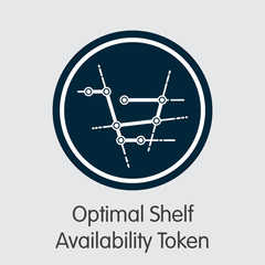 OSA - Optimal Shelf Availability Token - The Coin Icon.