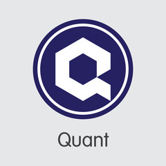 QNT - Quant. The Icon of Crypto Currency or Market Emblem.