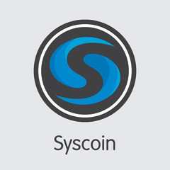 SYS - Syscoin. The Icon of Coin or Market Emblem.