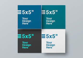 4 Square Paper Mockups