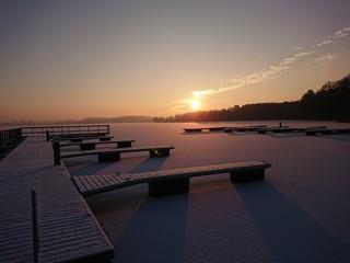 Fototapeta Jezioro Ukiel - Krzywe. Olsztyn warmia