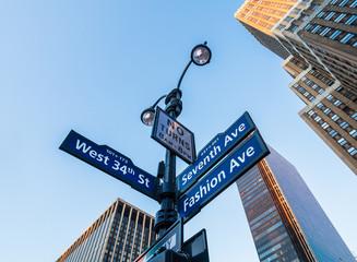 ニューヨーク マンハッタンの道路標識