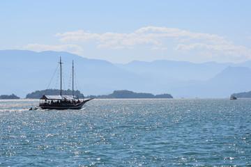 brazilian yacht in the sea