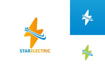 Star Electric Logo Template Design Vector, Emblem, Design Concept, Creative Symbol, Icon