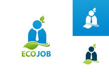 Ecology Job Logo Template Design Vector, Emblem, Design Concept, Creative Symbol, Icon