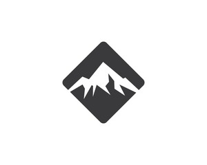 Mountain logo template vector icon illustration