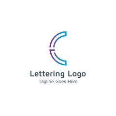 Lettering C Vector