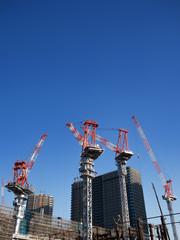 Fototapete - 高層マンションの建設工事