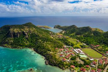 Iles des Saintes. French Guadeloupe. Caribean island.