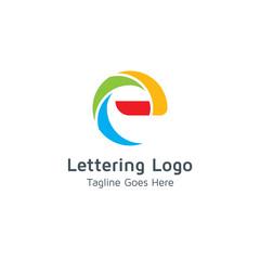 Lettering E Vector