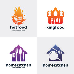 Food Restaurant Logo Set Design Template Collection