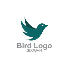 Minimalist Bird illustration logo