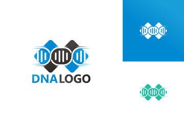 DNA Logo Template Design Vector, Emblem, Design Concept, Creative Symbol, Icon