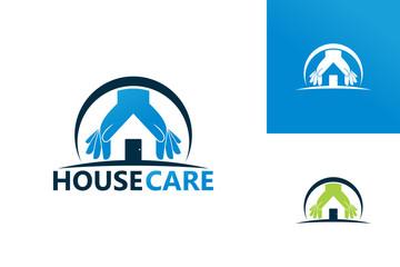 House Care Logo Template Design Vector, Emblem, Design Concept, Creative Symbol, Icon