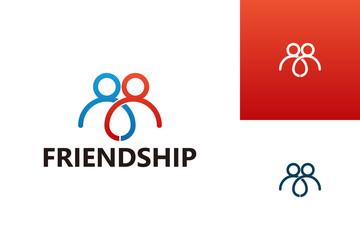 Friendship Logo Template Design Vector, Emblem, Design Concept, Creative Symbol, Icon