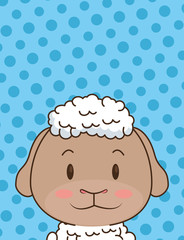 cute little sheep character