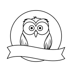 cute little owl bird character