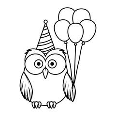 cute little owl bird character