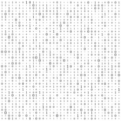 Abstract Matrix Background. Binary Computer Code. Coding. Hacker concept. Vector Background Illustration