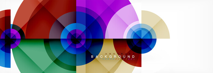 Geometric circle abstract background, creative geometric wallpaper.