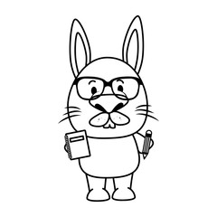 cute little rabbit character