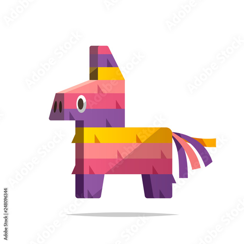 Pinata vector isolated illustration