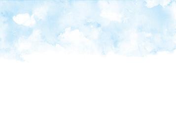 空 水彩イラスト