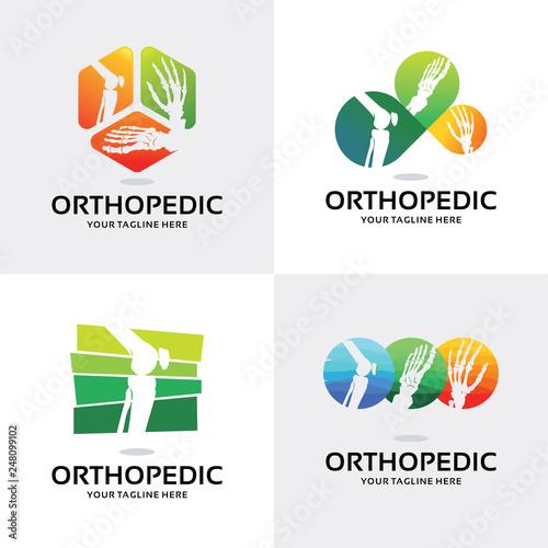Orthopedic Logo Set Design Template Collection