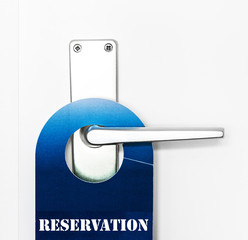 Reservation doorhanger