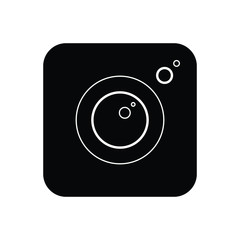Black solid icon for camera app