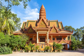 main building of Wat Bo Temple, Siem Reap, Cambodia, Asia
