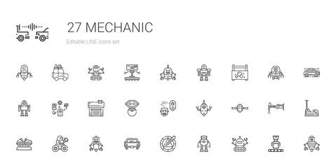 mechanic icons set