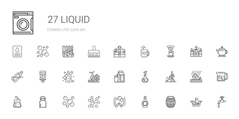 liquid icons set