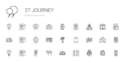 journey icons set